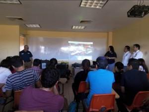 Como primera actividad se asistió a la presentación de la empresa con los alumnos y descripción de las actividades con vehículos de operación remota.