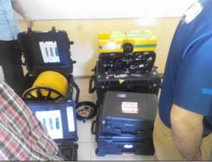 La compañía presento su equipo portátil que utiliza en la zonda de Campeche en inspección submarina y toma de videos.