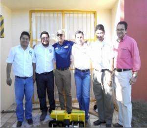La foto de los profesores que participaron en la práctica con los estudiantes